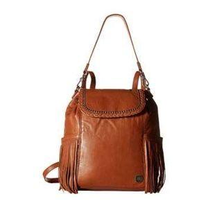 The Sak Avalon Leather Fringe Convertible Backpack